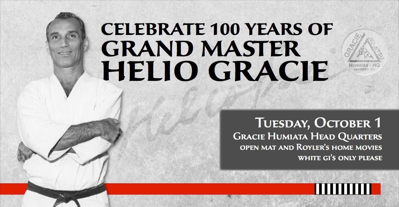 Anniversario di 100 anni Gran Maestro Hélio Gracie