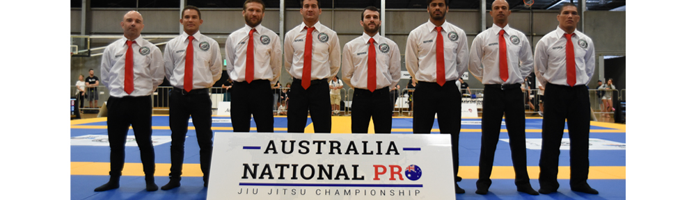 Coach Marcel Leteri Sasso de Oliveira and the referee team at the 2017 Australia National Pro - Jiu Jitsu Championship held in Sydney.
