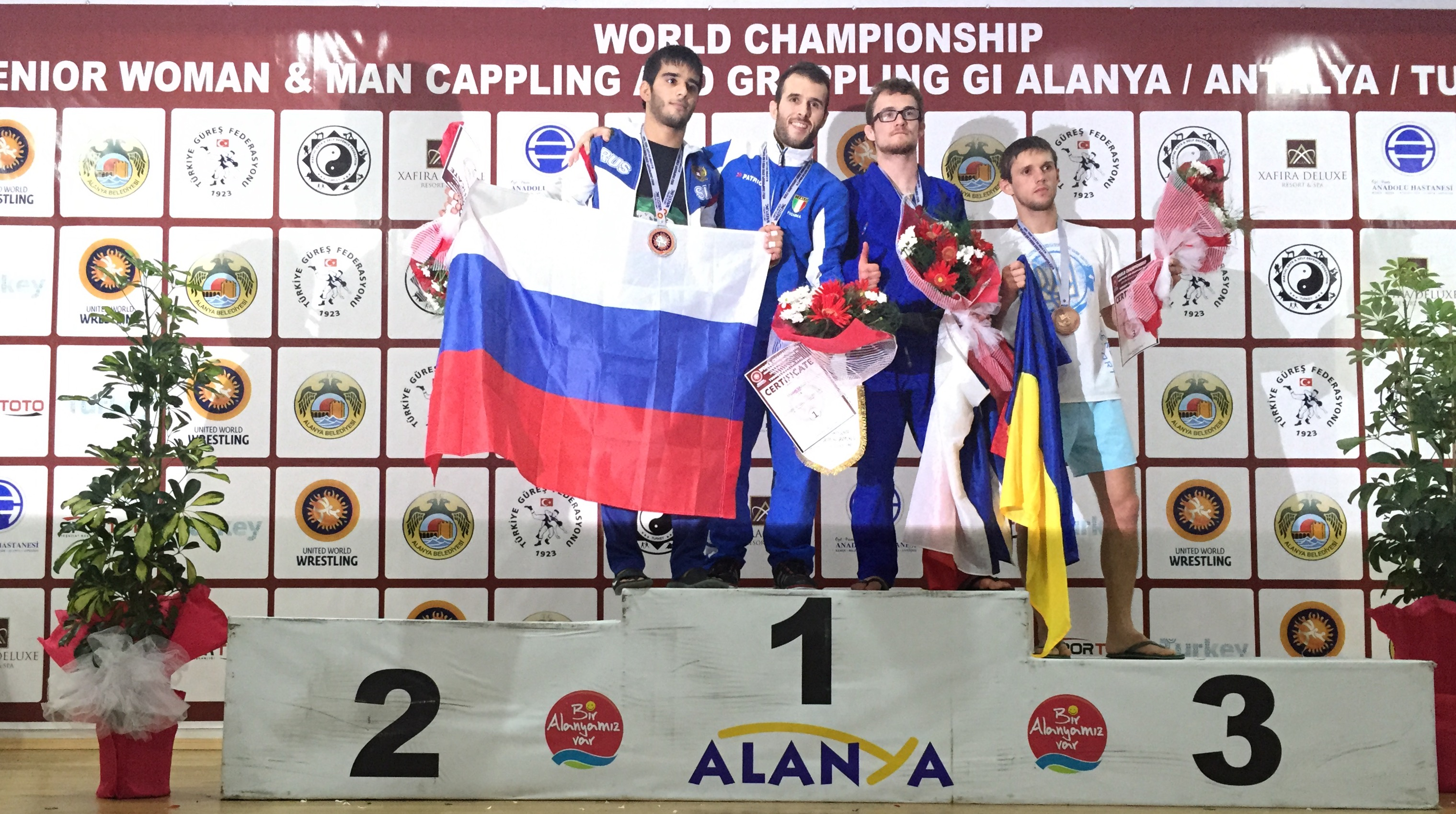Marcel Leteri Sasso de Oliveira, World Champion at the 2015 United World Wrestling - Grappling World Championship held in Turkey.
