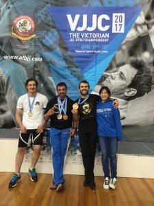 Great medal haul for Coach Marcel Leteri Sasso de Oliveira and Cia Paulista Brunswick at the 2017 Victorian Jiu Jitsu Championship!