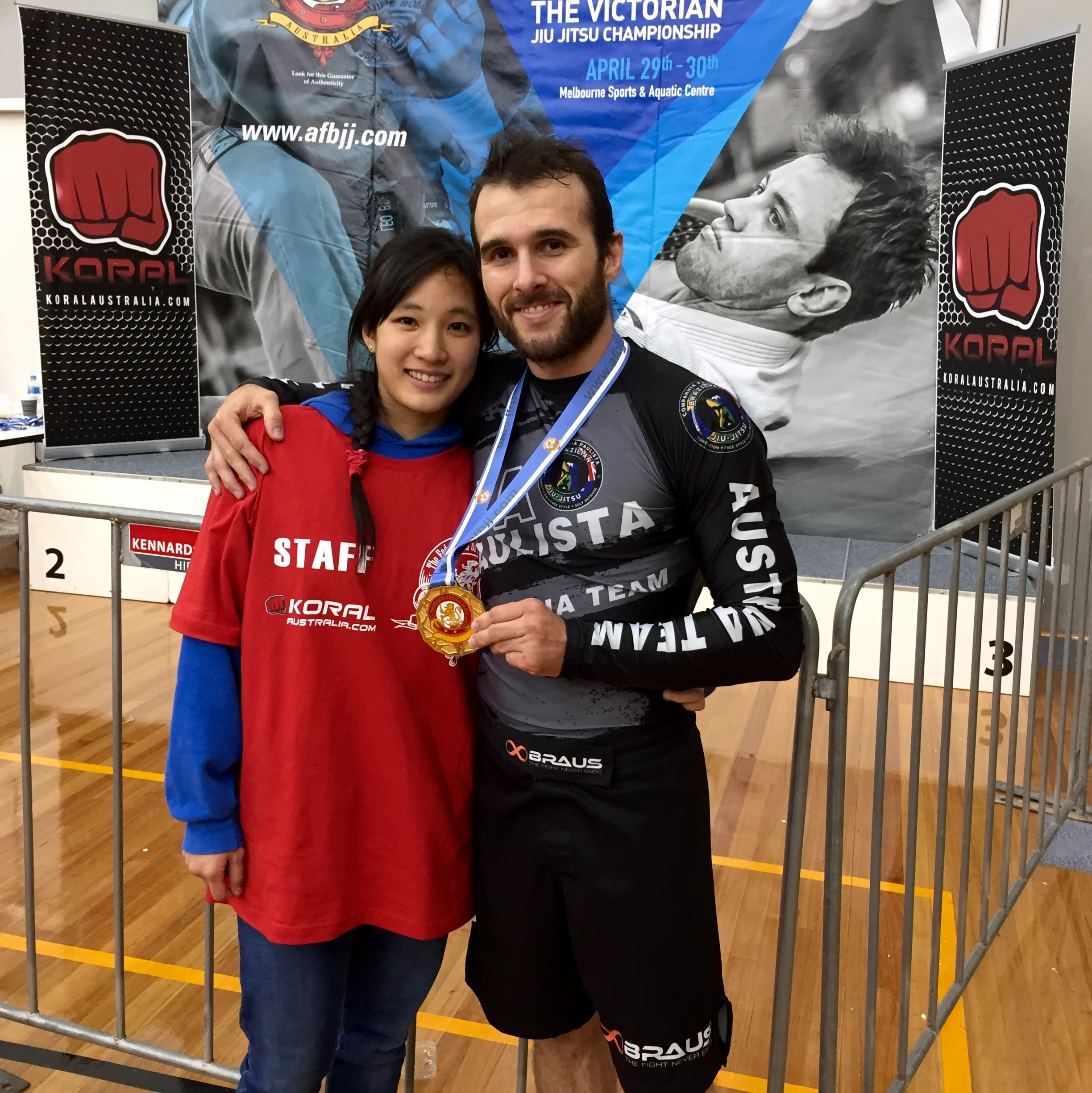 Great medal haul for Coach Marcel Leteri Sasso de Oliveira and Cia Paulista Brunswick at the 2017 Victorian Jiu Jitsu Championship!