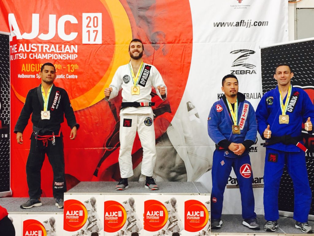 The 2017 Australian National Black Belt Master Featherweight Champion is Marcel Leteri Sasso de Oliveira!
